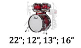 "22""; 12"", 13""; 16"""