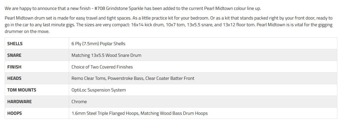 PEARL MDT764P/C708 Midtown - Grindstone Sparkle