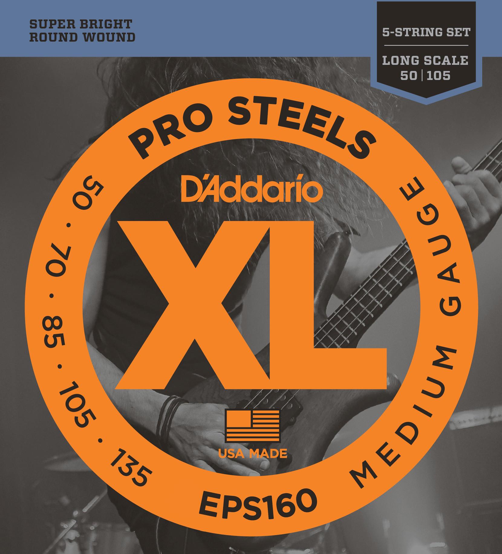 D'ADDARIO EPS160 Pro Steels Light Top/Heavy Bottom - .050 - .105