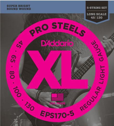 D'ADDARIO EPS170-5 Pro Steels Regular Light - .045 - .130