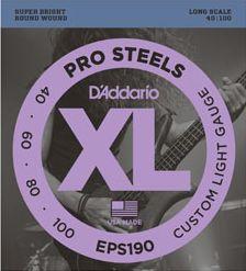 D'ADDARIO EPS190 Pro Steels Super Light - .040 - .100