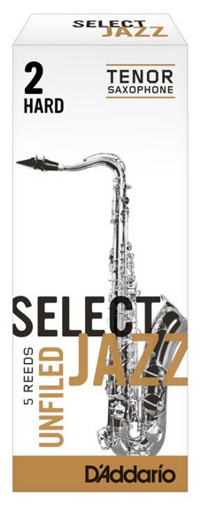 RICO RRS05TSX2H Select Jazz - Tenor Saxophone Reeds - Unfiled - 2 Hard - 5 Box
