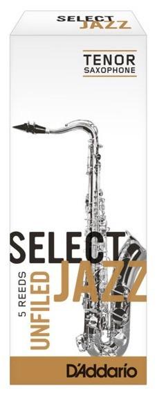 RICO RRS05TSX2M Select Jazz - Tenor Saxophone Reeds - Unfiled - 2 Medium - 5 Box