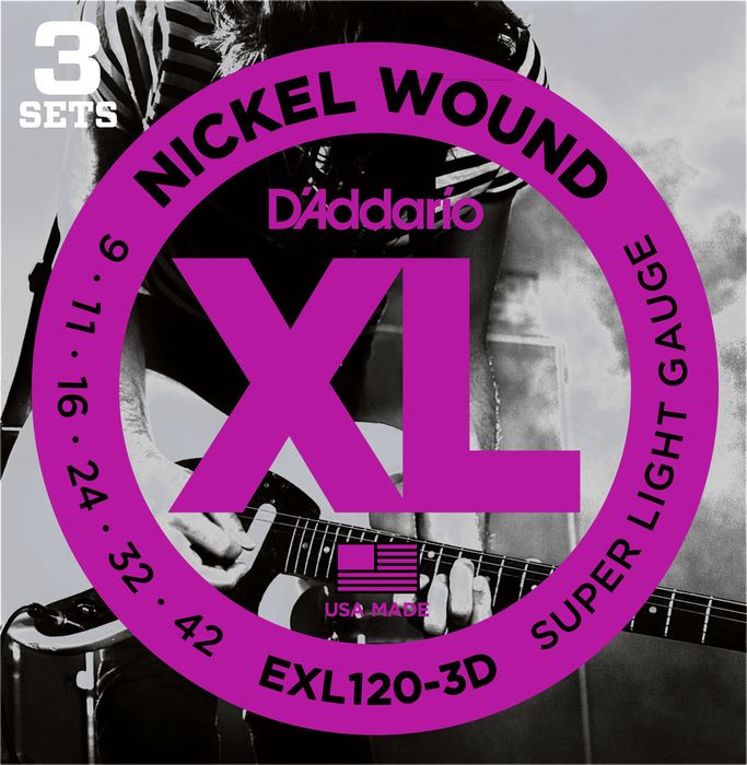 D'ADDARIO EXL120-3D Super Light - .009 - .042