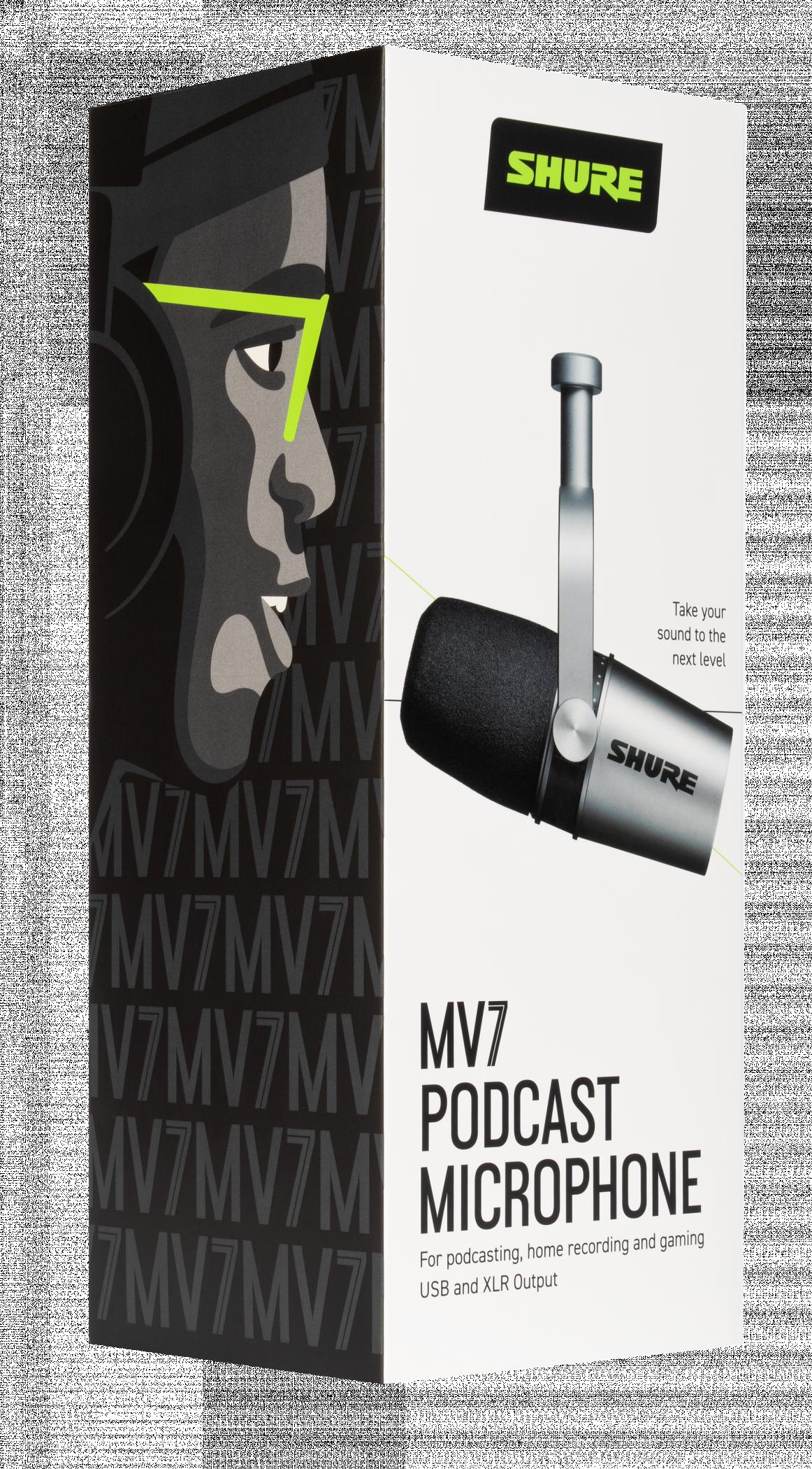 SHURE MV7-S (silver)