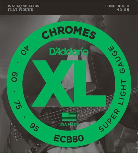 D'ADDARIO ECB80 Chromes Super Light - .040 - .095