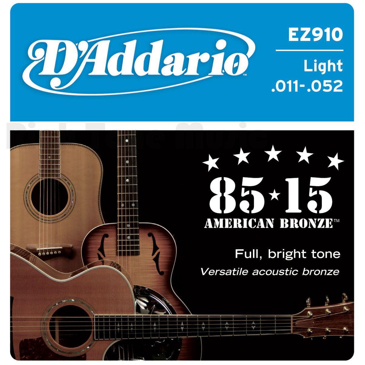 D'ADDARIO EZ910 80/15 Bronze Mid Light - .011 - .052