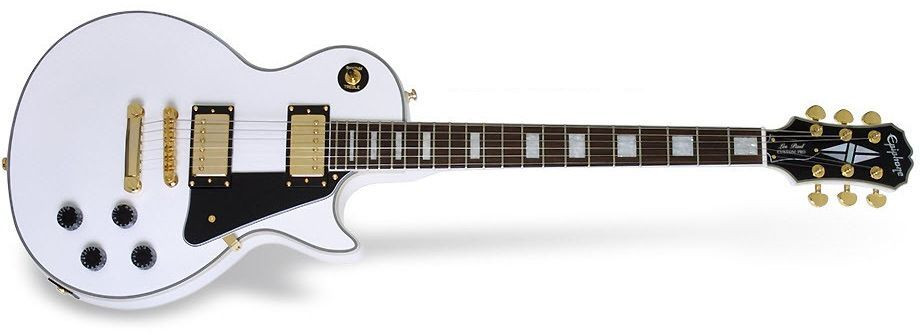 EPIPHONE Les Paul Custom Pro, Rosewood Fingerboard - Alpine White