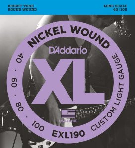 D'ADDARIO EXL190 Custom Light - .040 - .100