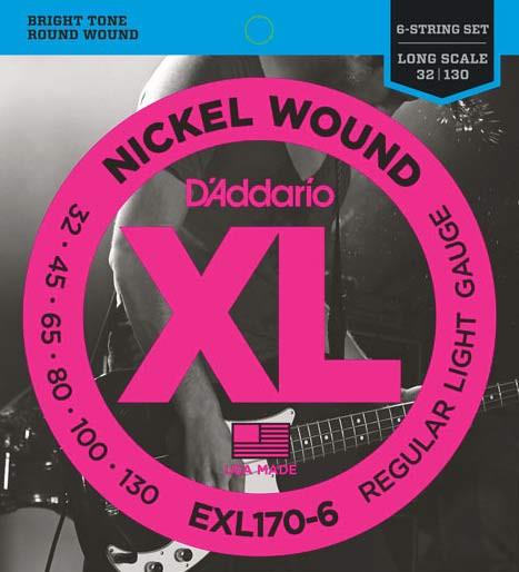 D'ADDARIO EXL170-6 Regular Light - .032 - .130