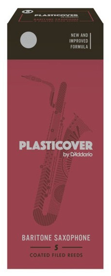 RICO RRP05BSX350 Plasticover - Baritone Saxophone Reeds 3.5 - 5 Box