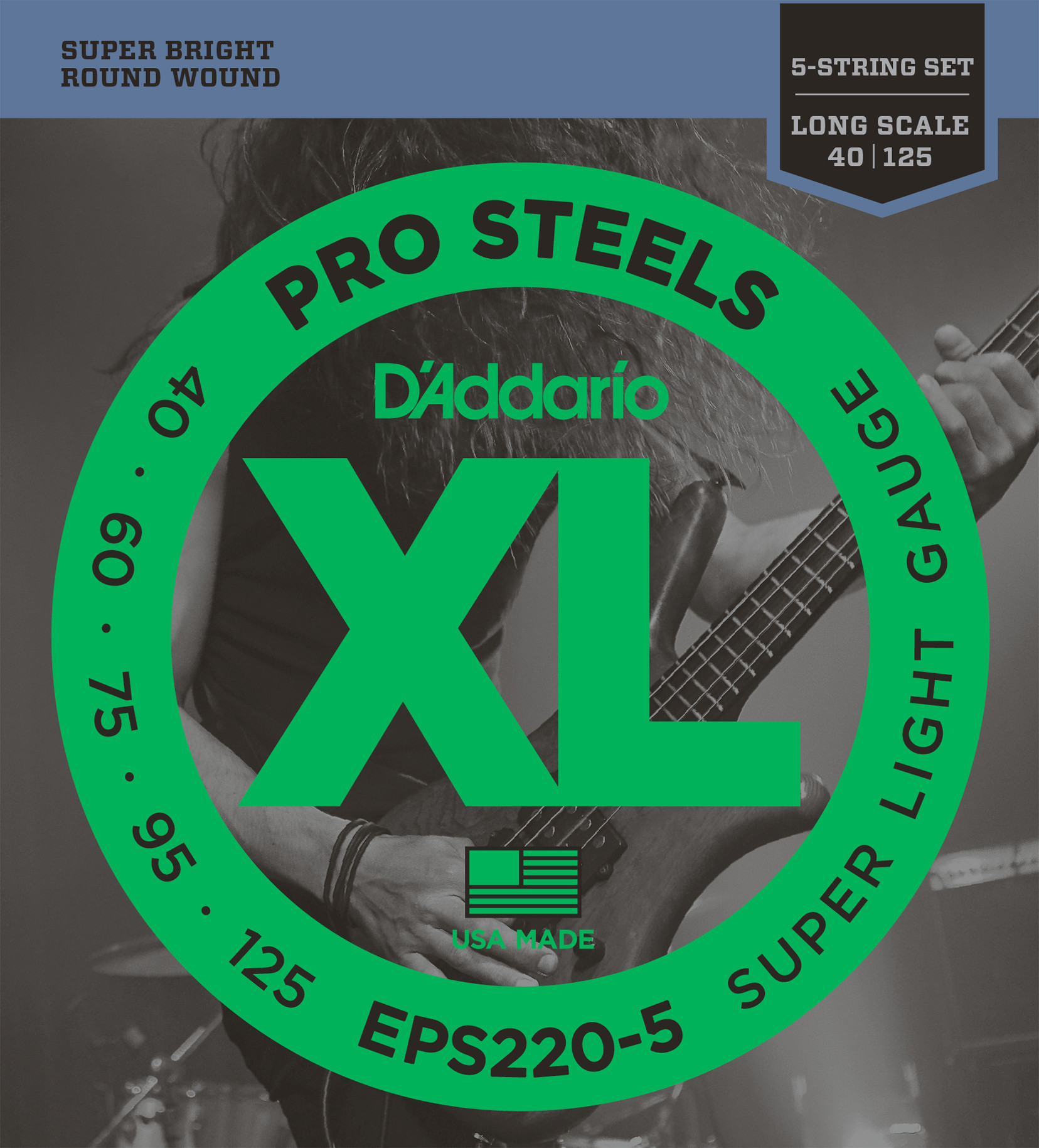 D'ADDARIO EPS220-5 Pro Steels Super Light - .040 - .125