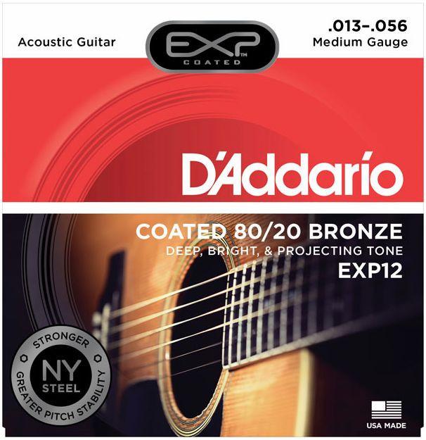 D'ADDARIO EXP12 80/20 Acoustic Bronze Super Medium - .013 - .056