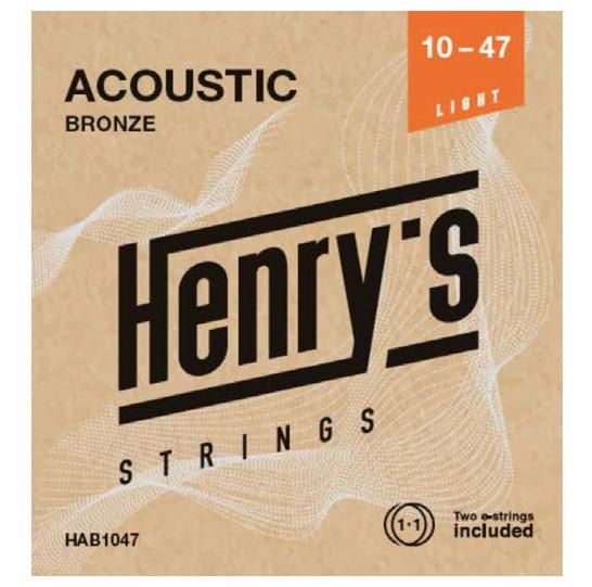 "HENRY'S STRINGS HAB1047 Acoustic Bronze - 010"" - 047"""