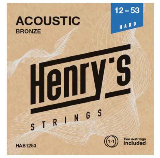 "HENRY'S STRINGS HAB1253 Acoustic Bronze - 012"" - 053"""