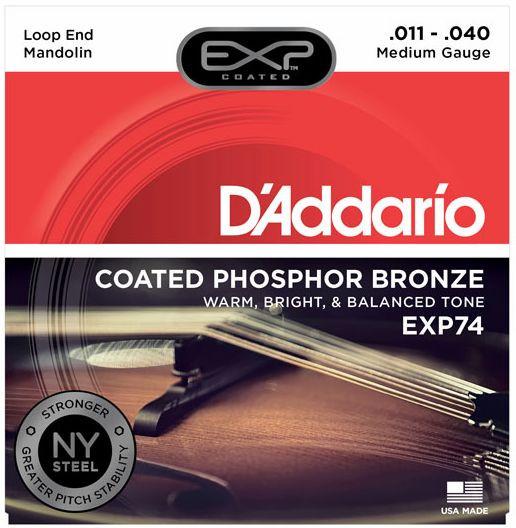 D'ADDARIO EXP74 Mandolin Medium .011 - .040