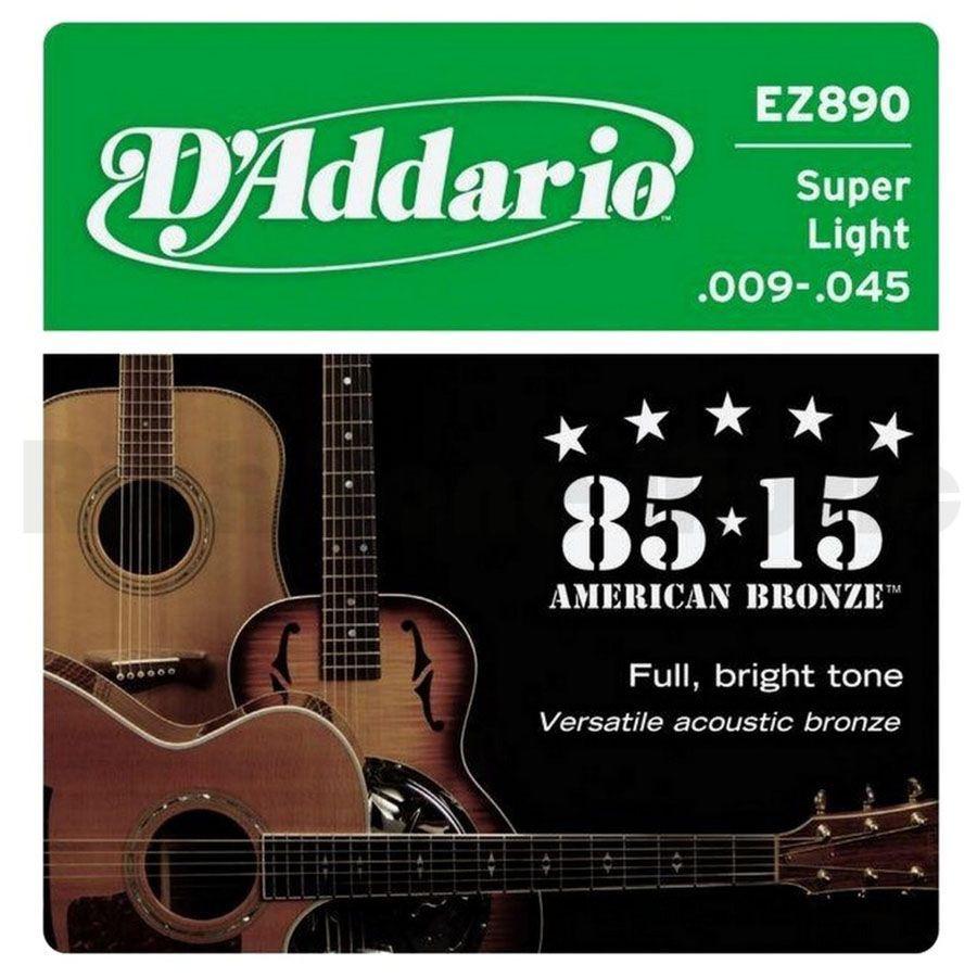 D'ADDARIO EZ890 80/15 Bronze Super Light - .009 - .045