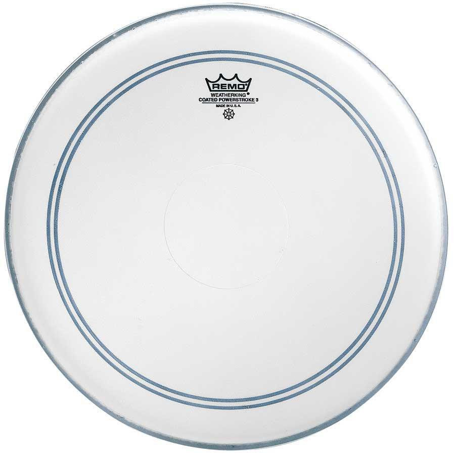 "REMO Powerstroke 3 Bass Coated 22"" - Clear Dot"