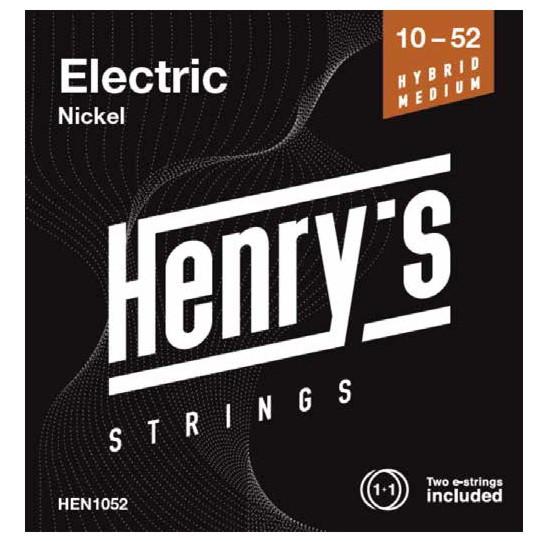 "HENRY'S STRINGS HEN1052 Electric Nickel - 010"" - 052"""