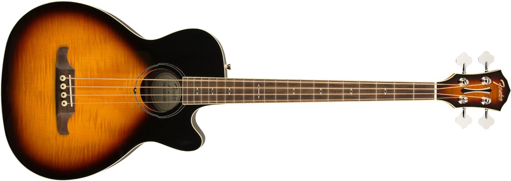 FENDER FA-450CE Bass 3-Tone Sunburst Laurel