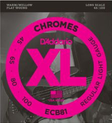 D'ADDARIO ECB81 Chromes Regular Light - .045 - .100