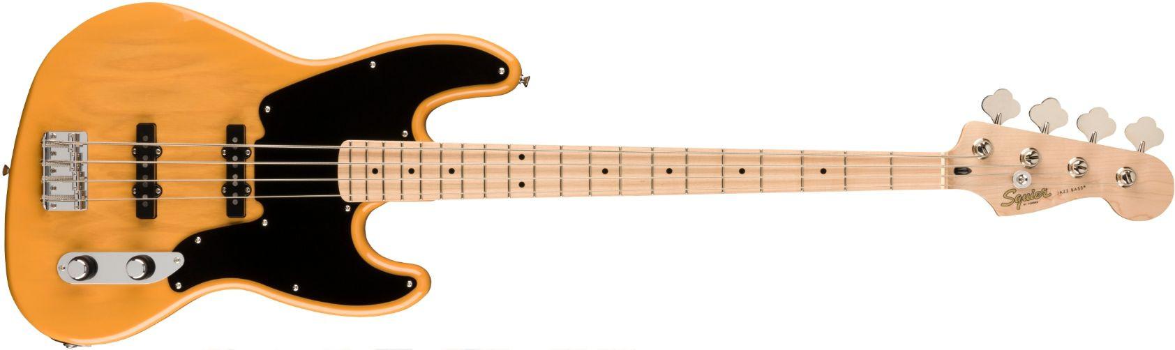 FENDER SQUIER Paranormal Jazz Bass 54 Butterscotch Blonde Maple