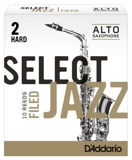 RICO RSF10ASX2H Select Jazz - Alto Saxophone Reeds - Filed - 2 Hard - 10 Box