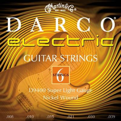 DARCO D 9400 008 niklované pro elektrickou kytaru, síla .008