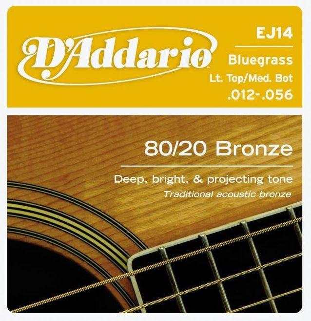 D'ADDARIO EJ14 80/20 Bronze Light Top/Medium Bottom - .012 - .056