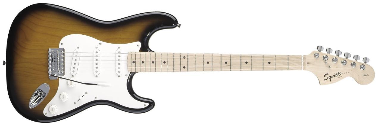 FENDER SQUIER Affinity Stratocaster®, Maple Fingerboard, 2-Color Sunburst