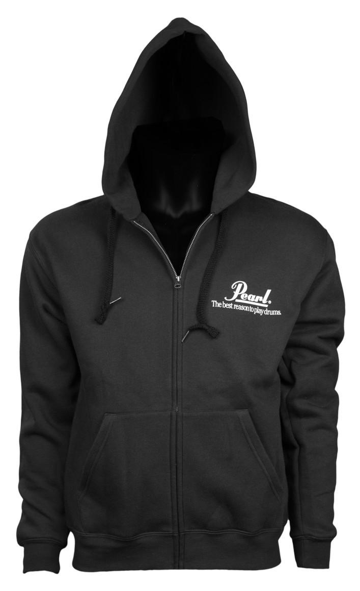 PEARL Hooded Zip Sweater Men Black - velikost S