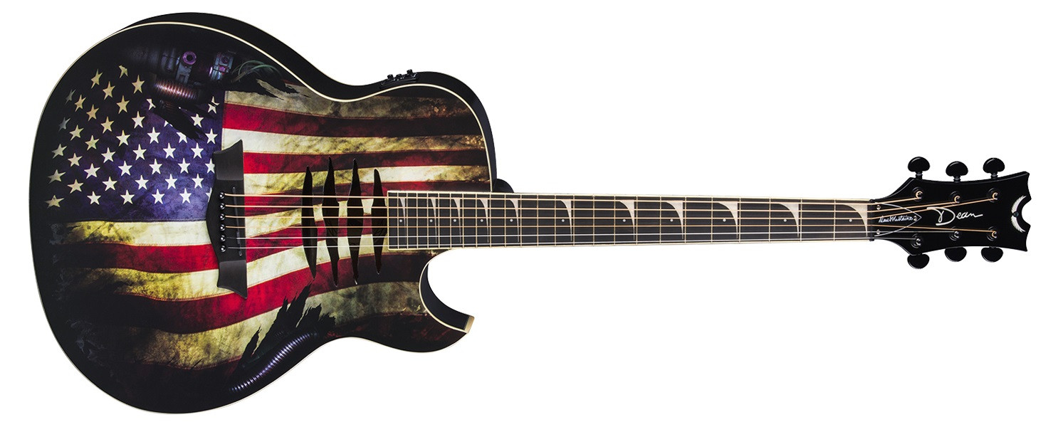 DEAN GUITARS MAKO GLORY USA War Torn Flag