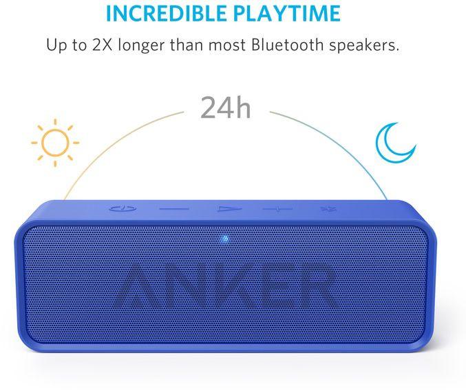 ANKER SoundCore Bluetooth stereo reproduktor, modrá