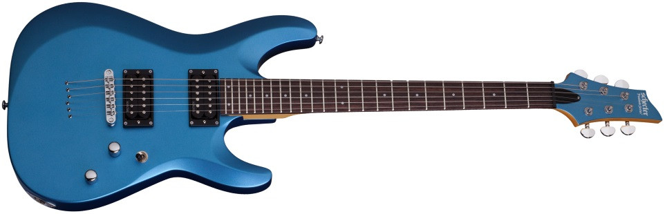 SCHECTER C-6 Deluxe Satin Metallic Light Blue