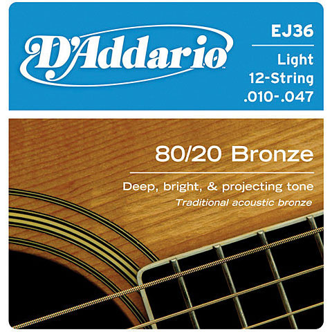 D'ADDARIO EJ36 80/20 Bronze 12 Light - .010 - .047
