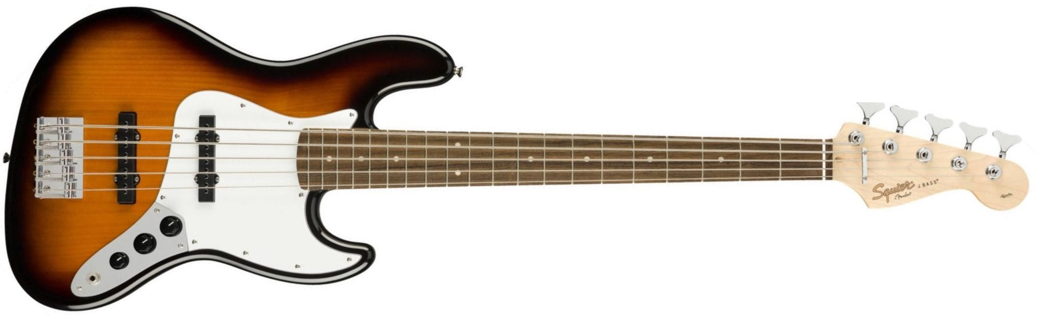 FENDER SQUIER Affinity Jazz Bass V Brown Sunburst Laurel