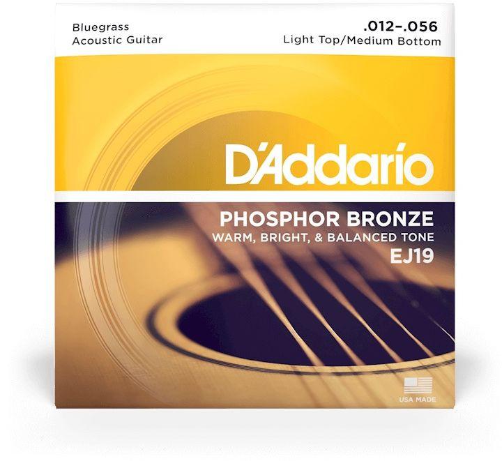 D'ADDARIO EJ19 Phosphor Bronze Low Top/ Medium Heavy - .012 - .056