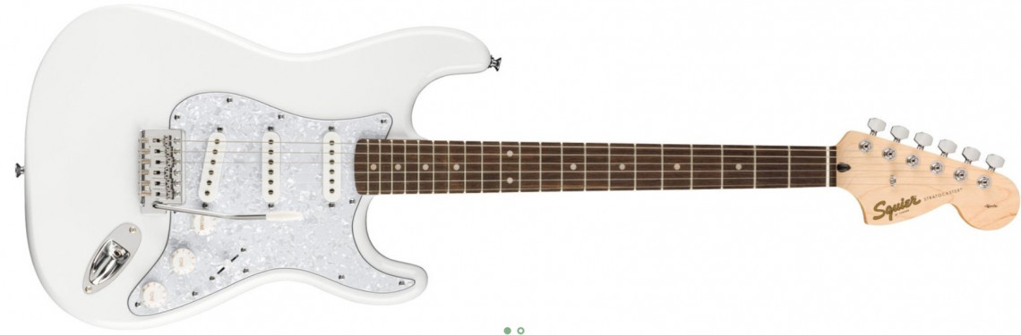 FENDER SQUIER FSR Affinity Stratocaster Arctic White Laurel