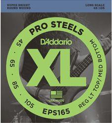 D'ADDARIO EPS165 Pro Steels Reg Light Top/Medium Bottom - .045 - .095