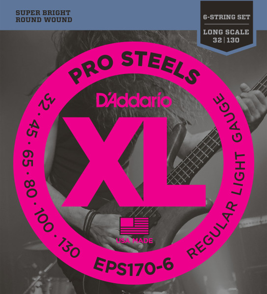 D'ADDARIO EPS170-6 Pro Steels Regular Light - .030 - .130