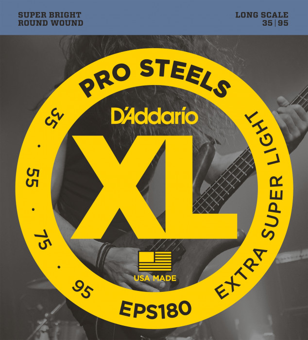 D'ADDARIO EPS180 Pro Steels Extra Super Light - .035 - .095