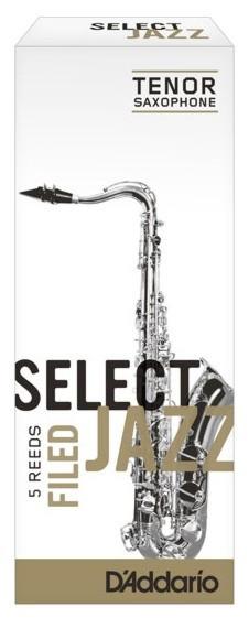 RICO RSF05TSX2M Select Jazz - Tenor Saxophone Reeds - Filed - 2 Medium - 5 Box
