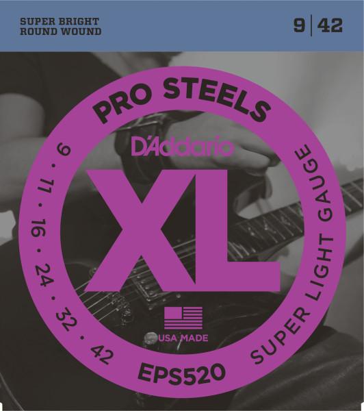 D'ADDARIO EPS520 Pro Steels Regular Light - .009 - .042