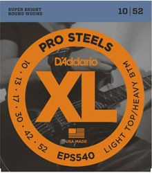 D'ADDARIO EPS540 Pro Steels Light Top/Heavy Bottom - .010 - .052