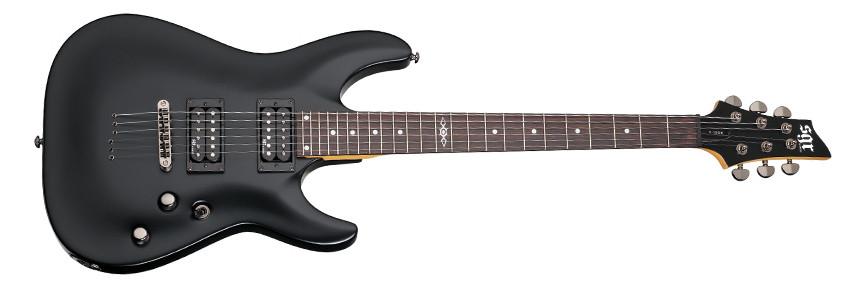 SCHECTER C-1 SGR, Rosewood Fingerboard - Midnight Satin Black