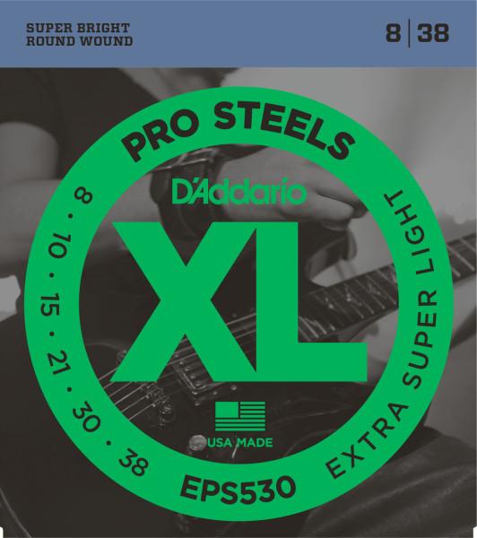 D'ADDARIO EPS530 Pro Steels Extra Super Light - .008 - .038