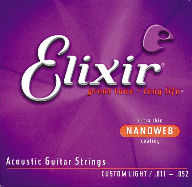 ELIXIR Acoustic 80/20 Bronze with NANOWEB .011 - .052