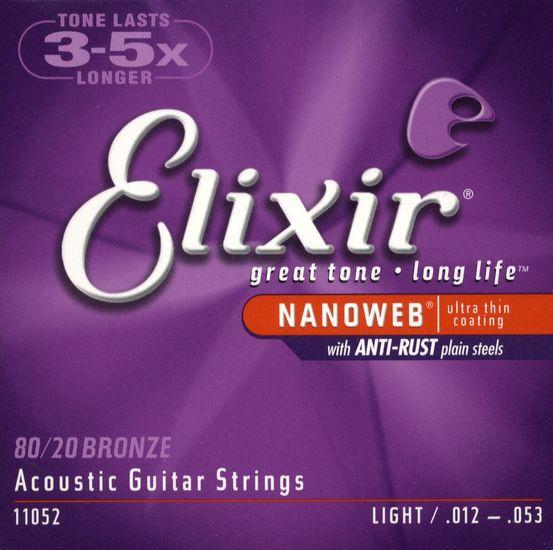 ELIXIR Acoustic 80/20 Bronze with NANOWEB .012 - .053
