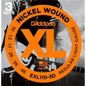 D'ADDARIO EXL110-3D Regular Light - .010 - .046