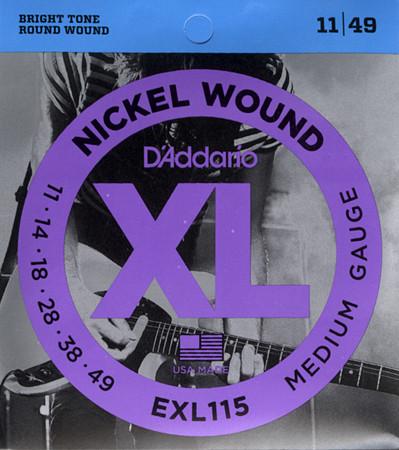 D'ADDARIO EXL115 Blues/Jazz Rock - .011 - .049